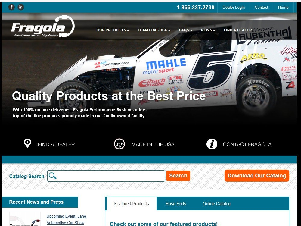 Fragola Performance Systems Launches New Souped-Up Website