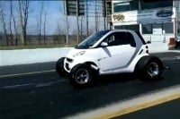 Smart Car drag car side