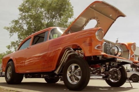 Video: Dave Ver Schave's Schwinn Bicycle Themed '55 Chevy