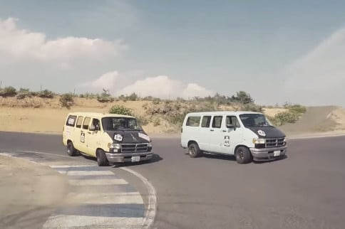 Video: Racing Old Dodge Ram Vans In Japan Is Apparently A Thing