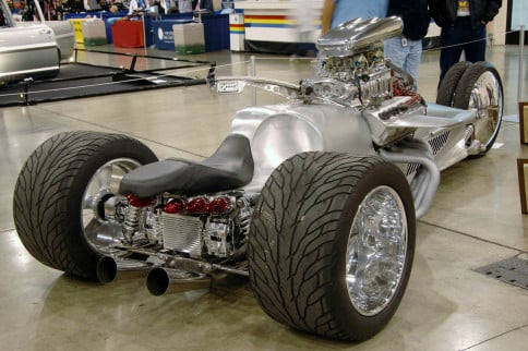 Video: Supercharged Hemi-powered Trike Stops By Jay Leno's Garage