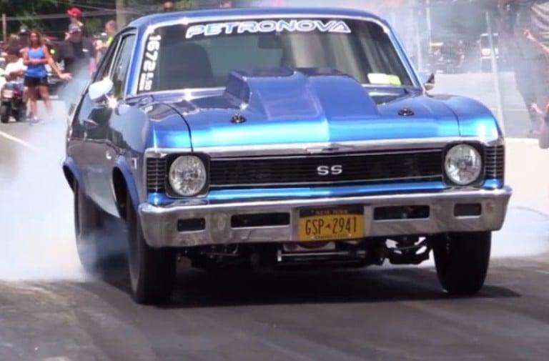 Video: Watch This Nitrous Chevy Nova Drag Car Turn 8 Second Passes