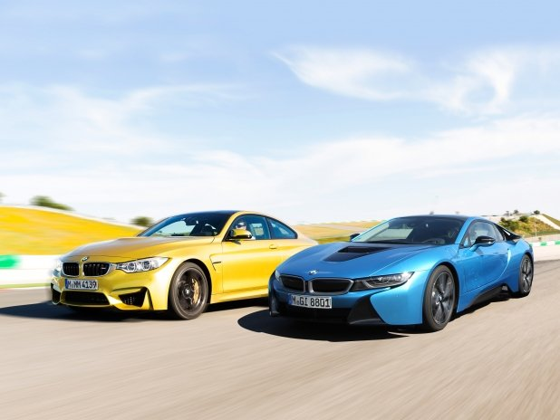 Video: BMW's M4 Takes on the Newfangled i8