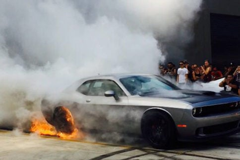 Video: Hellcat Reels In Seventh Gear On Lengthy Burnout