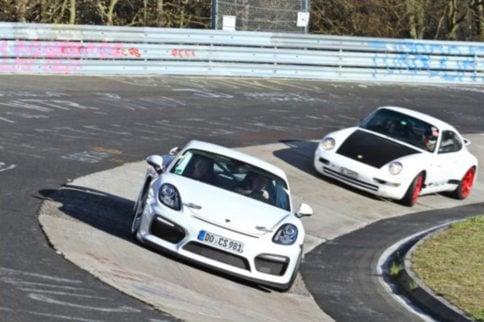 Video: Chasing a Cayman GT4 in a Slidey Porsche 993