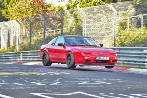 Video: Nissan 200SX Pursues Porsche GT3 at the Nurburgring