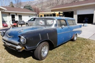 LS-Based 1957 Chevy Nomad Is A Modern Barn Find