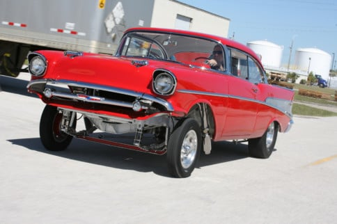 """Old-School Cool '57 Chevy """"Glamour Gasser"""""""